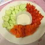 Szív alakú zöldségek