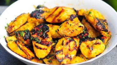 főzőbanán vegetáriánus grill recept